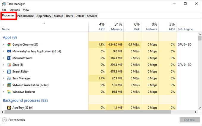 Sådan genstartes File Explorer i Windows 10