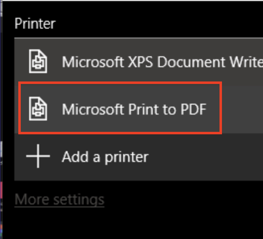 How to convert a screenshot to a PDF in Windows 10