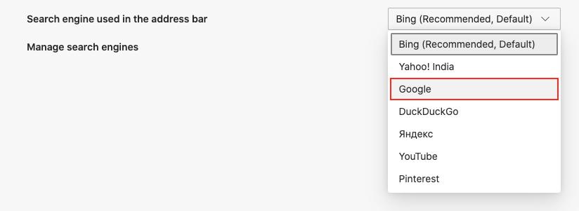 Google Edge ကိုပုံမှန်ရှာဖွေရေးအင်ဂျင်အဖြစ်ဘယ်လိုသတ်မှတ်မလဲ