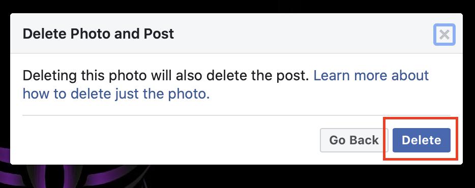 Cara menghapus gambar di Facebook