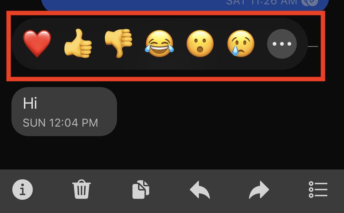 So reagieren Sie auf eine Nachricht in der Signal Messaging-App.
