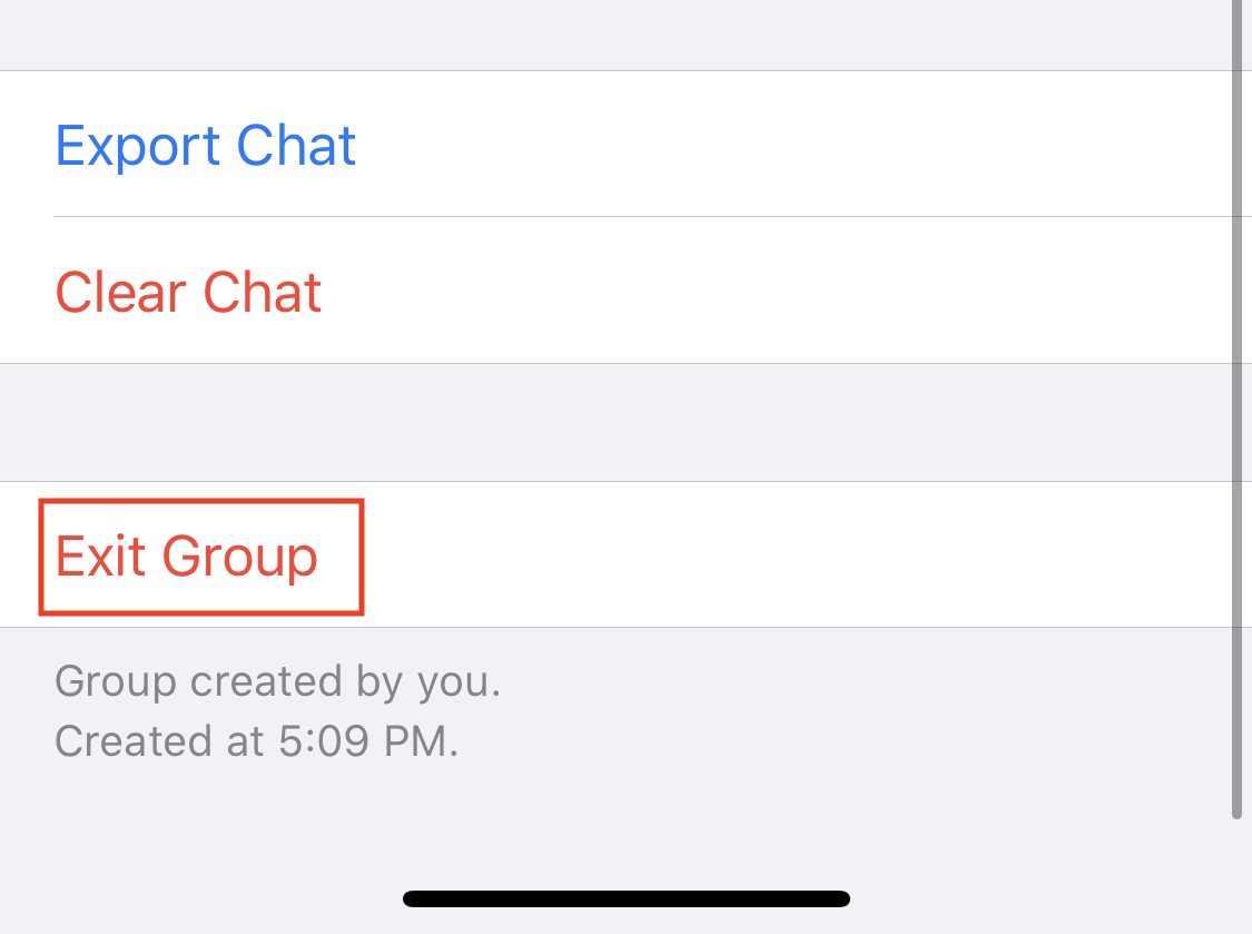 How to delete a group on Whatsapp