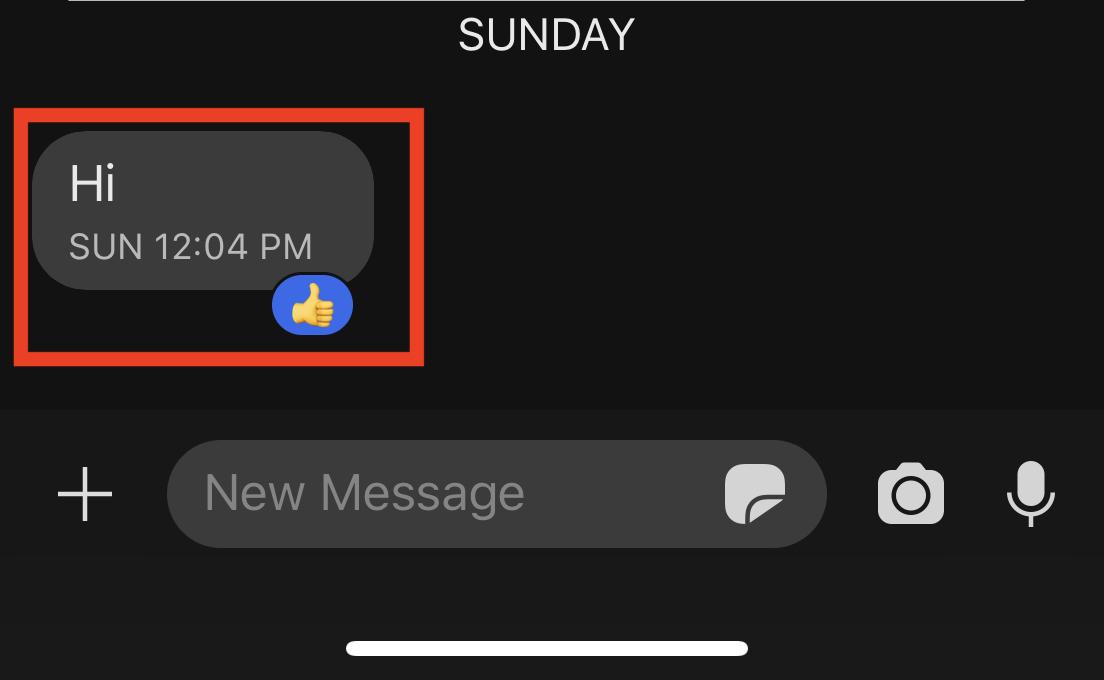 Hoe te reageren op een bericht in de Signal Messaging-app.