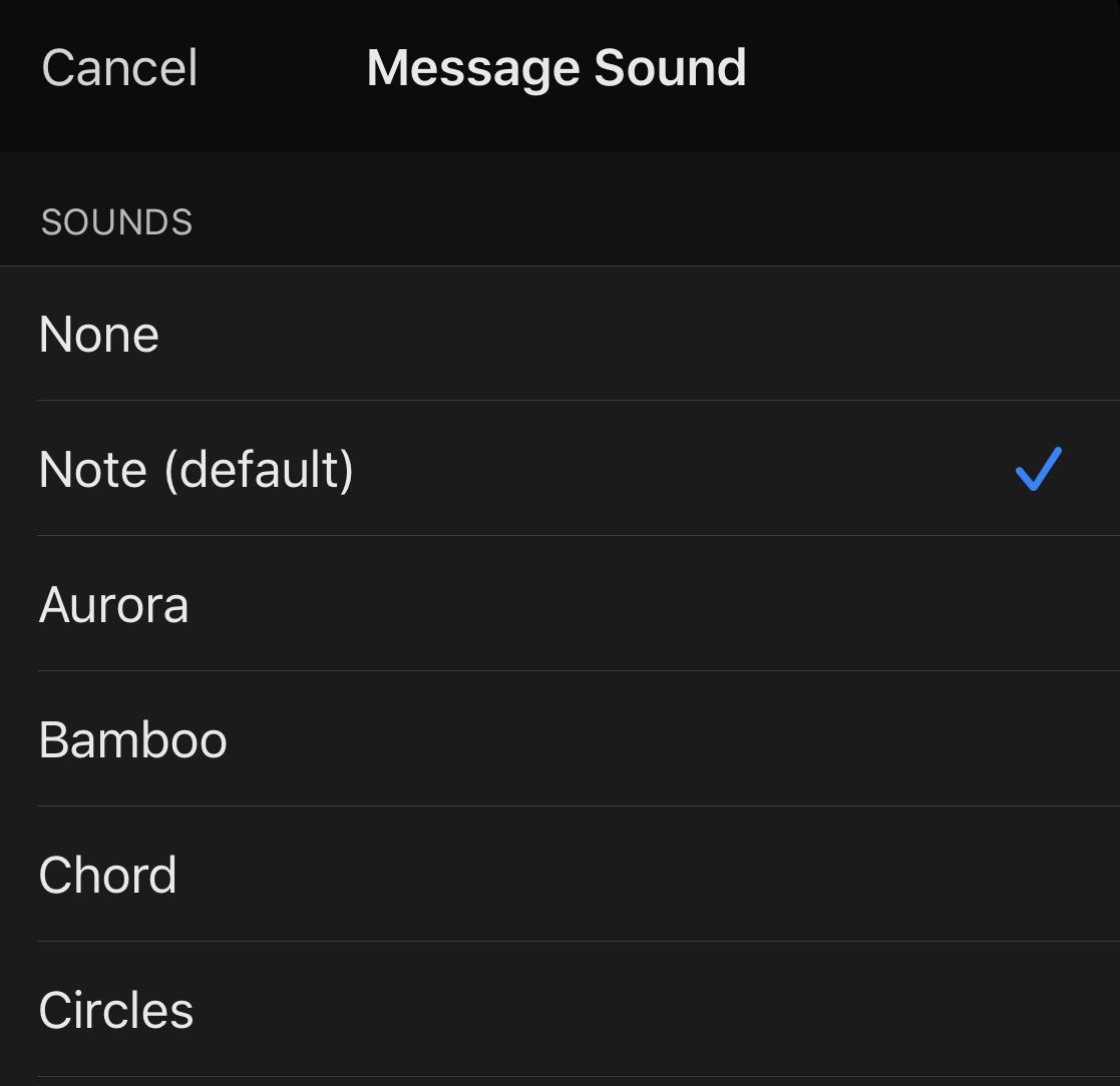 Como alterar o som de notificação do aplicativo de mensagens de sinal?