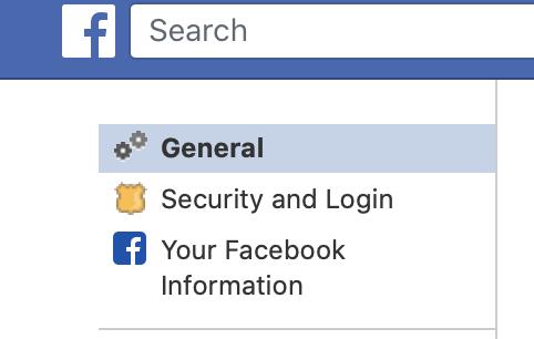skift dit navn på facebook