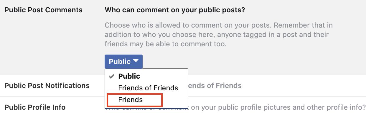 Como desativar comentários em uma postagem do Facebook