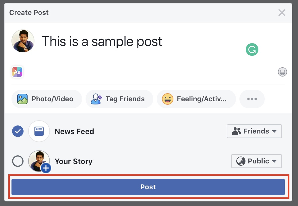 How to make your post visible to just friends on Facebook