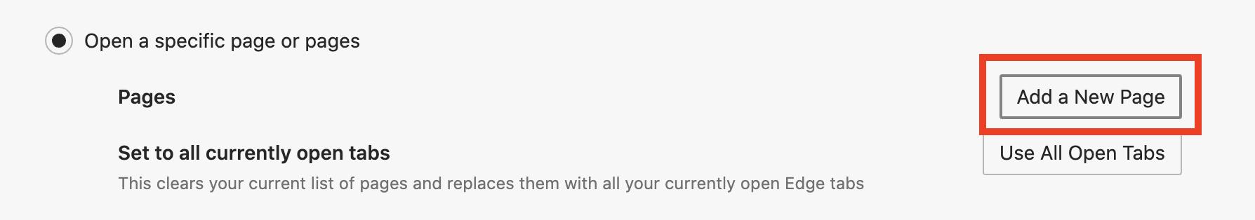 Home Page ကို Microsoft Edge တွင်မည်သို့ထားရမည်နည်း