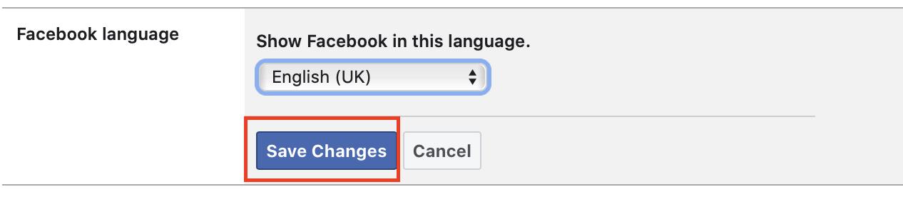 Kako promijeniti jezik na Facebooku