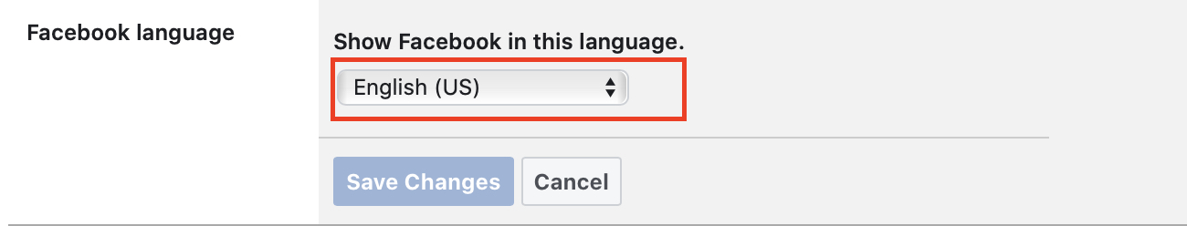 Sådan ændres sproget på Facebook