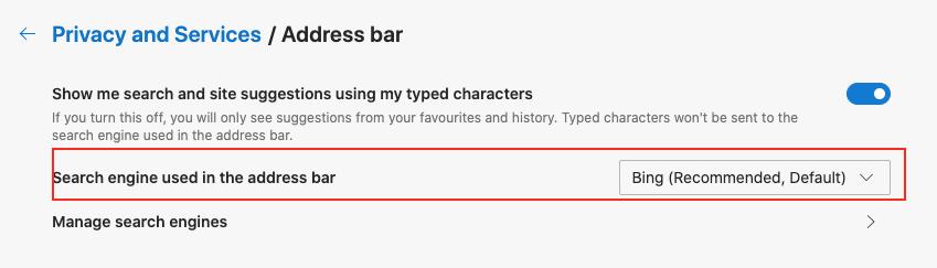 Google को Microsoft Edge पर डिफ़ॉल्ट खोज इंजन के रूप में कैसे सेट करें