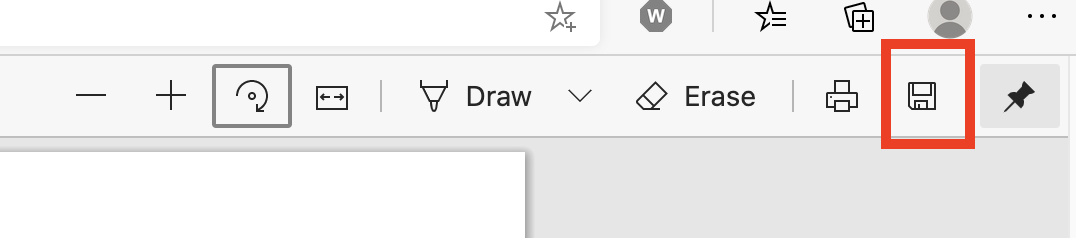 Microsoft Edge မှာ PDF ကိုဘယ်လိုလှည့်ရမလဲ