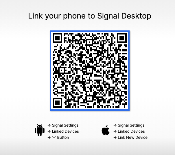 How to link devices on the Signal Messaging app ?