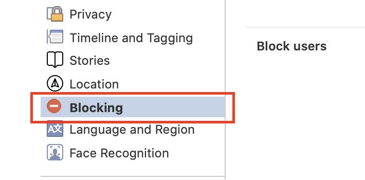 fjern blokering af en bruger på facebook