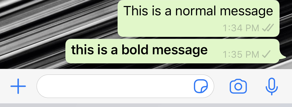How to make your text bold on Whatsapp