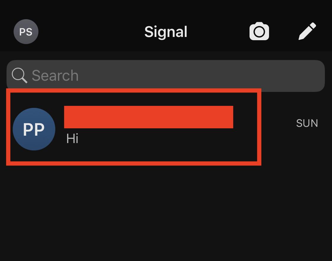 signaal berichten-app