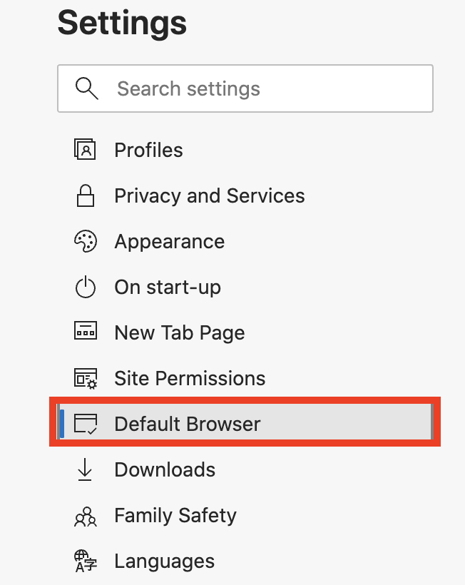 How to set Microsoft Edge as the default Web Browser