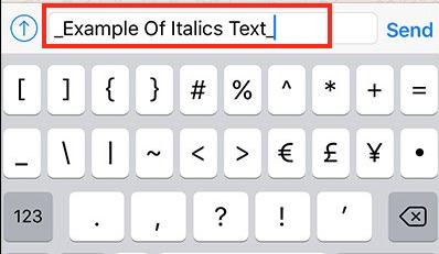 hvordan man skriver kursiv på WhatsApp