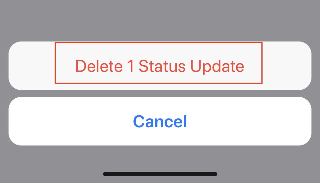 Sådan slettes din status på WhatsApp