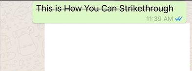 व्हाट्सएप में टेक्स्ट के माध्यम से कैसे हड़ताल करें