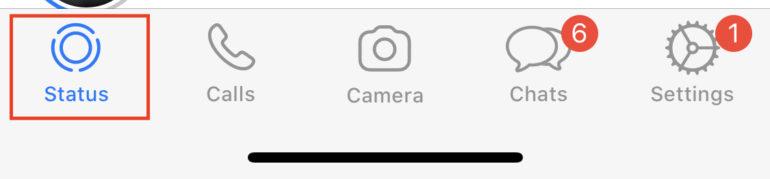 delete WhatsApp status