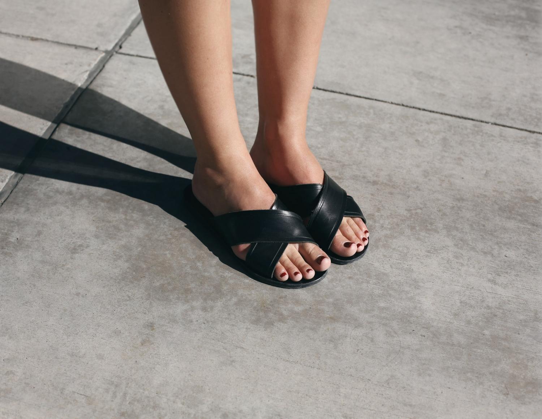 ancient greek sandal slides