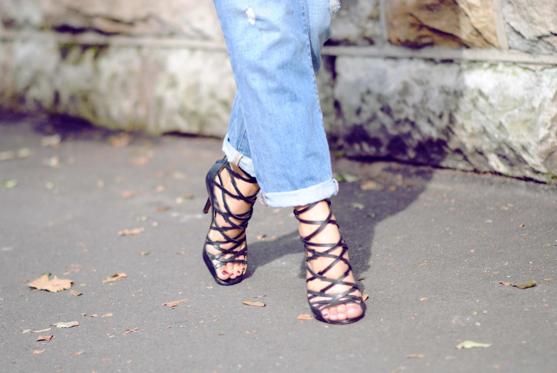 boyfriend jeans, isabel marant heels