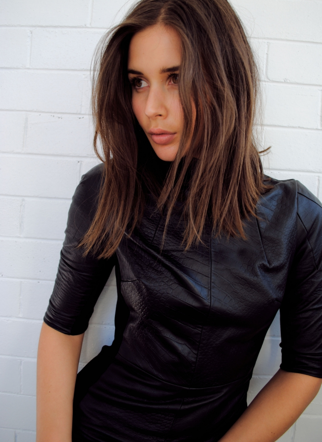 camilla and marc, leather dress, blogger