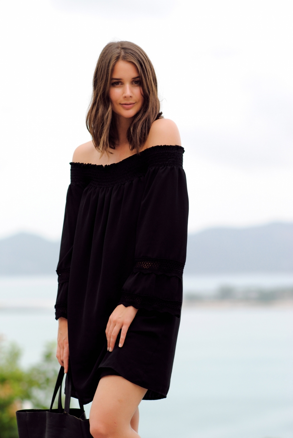 harper and harley_off the shoulder black dress_travel_thailand_koh samui_03
