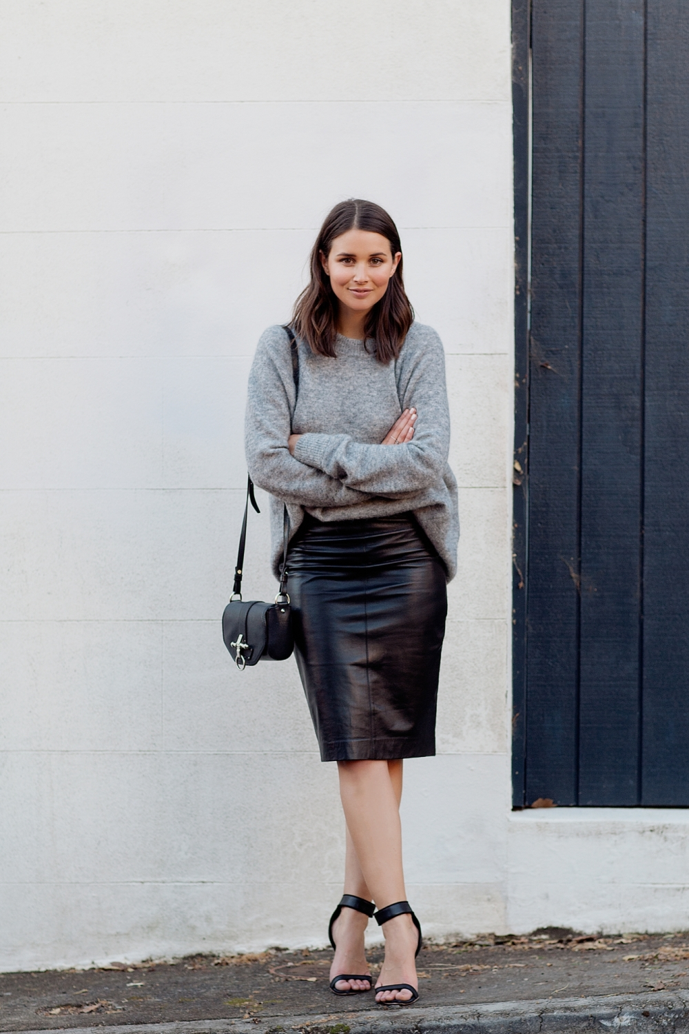 harper and harley_camilla and marc_leather skirt_grey knit_fashion blogger_01