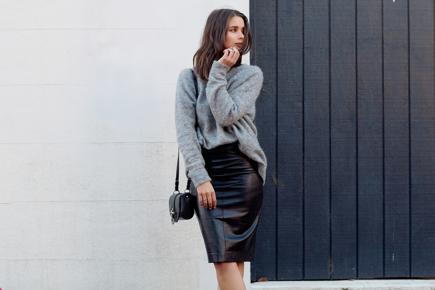 harper and harley_camilla and marc_leather skirt_grey knit_fashion blogger_03