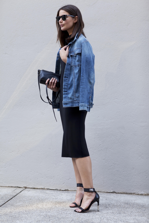 harper and harley_sara donaldson_denim jacket_black dress_fashion blogger_1