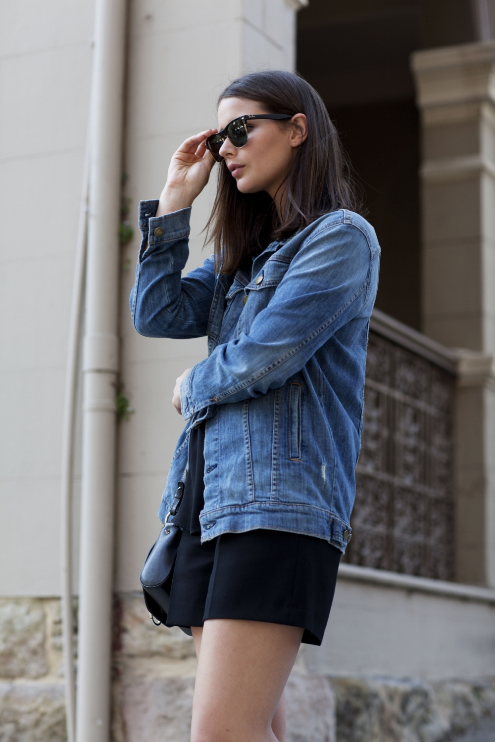 harper and harley_sara donaldson_denim jacket_black shorts_fashion blogger_7
