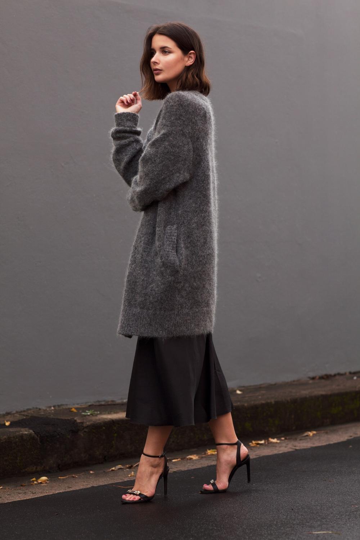 oversized acne grey knit_ black slip dress_harper and harley_sara donaldson_fashion blogger_australian