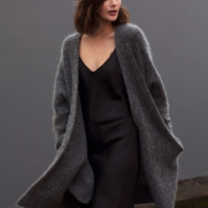 oversized acne grey knit_ black slip dress_harper and harley_sara donaldson_fashion blogger_australian