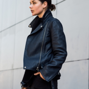 MCQ leather jacket and cullotes | Harper and Harley