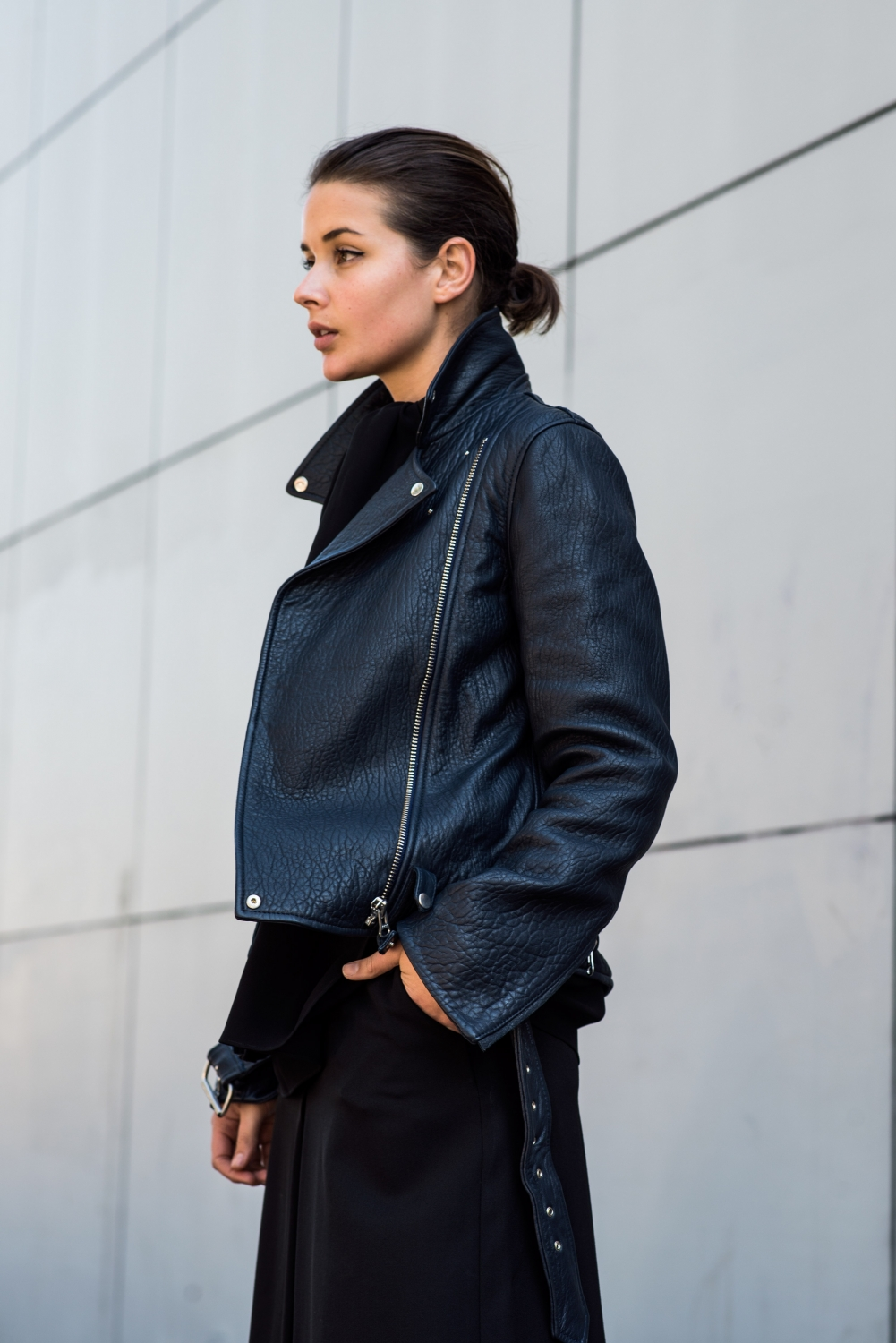 MCQ leather jacket and cullotes   Harper and Harley