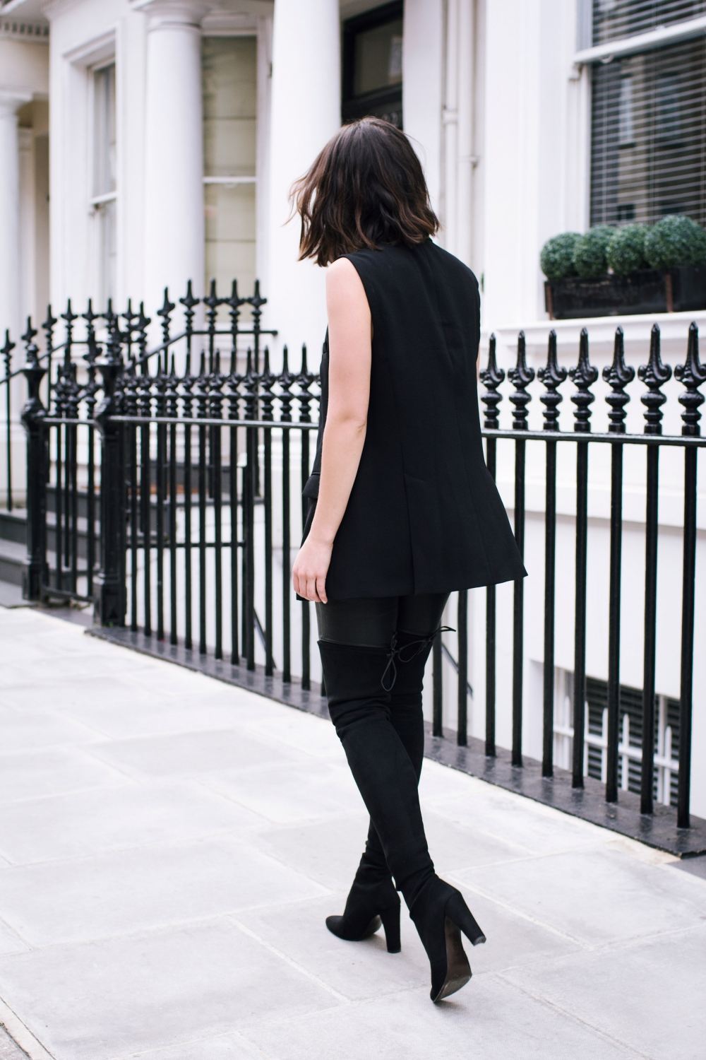 stuart weitzman over the knee black boot | harper and  harley