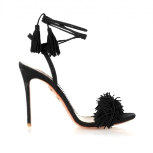aquazzura wild thing in black suede