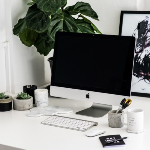 office desk inspiration plants succulents