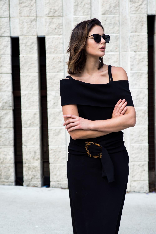 J.W.Anderson black dress