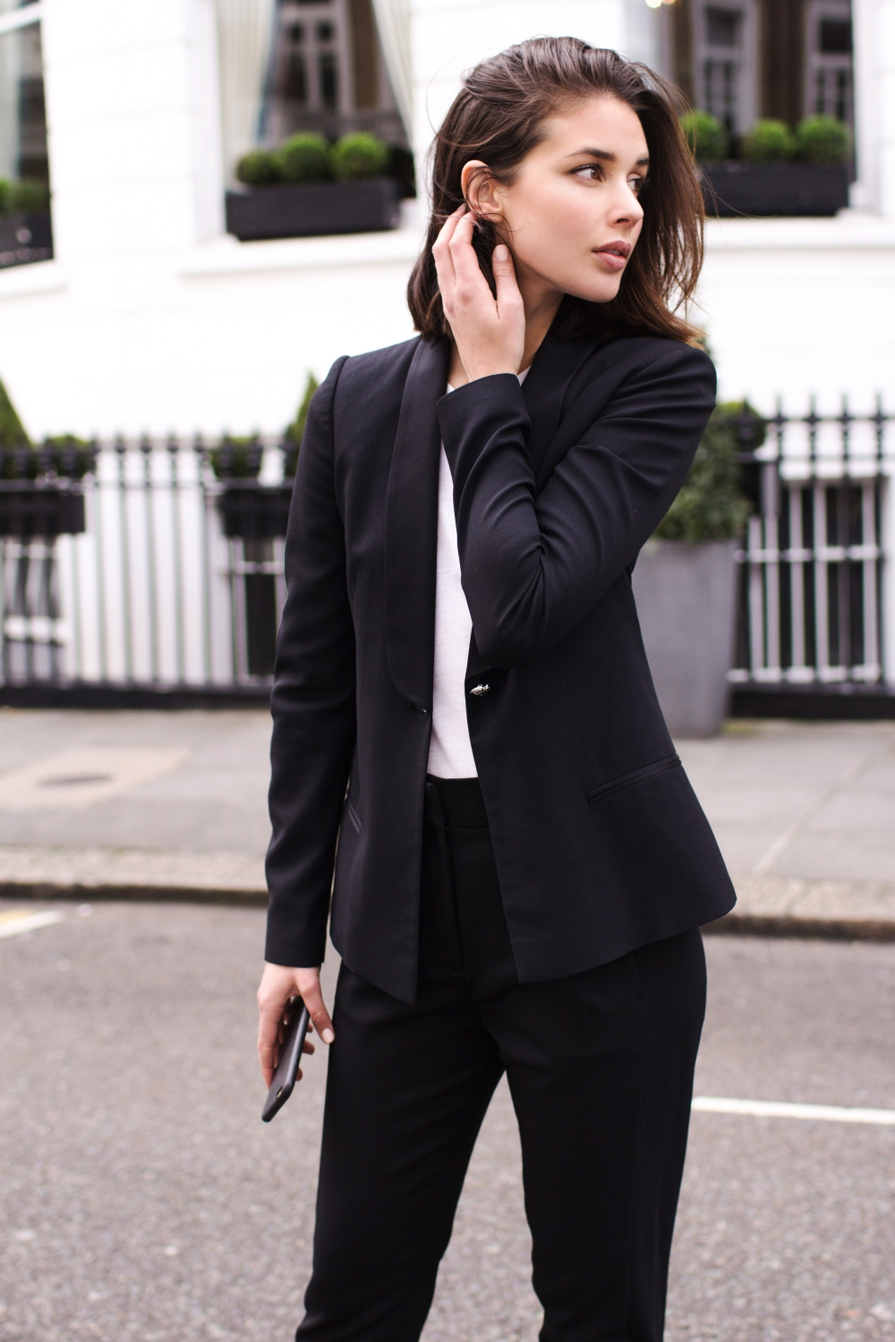 how to wear a suit for women, street style, outfit