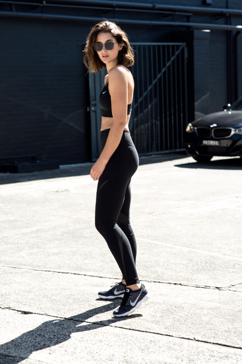 NIKE crop top and black leggings | Health| Fitness | Outfit | Style