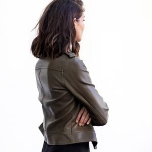 khaki leather jacket   style   outfit   HarperandHarley