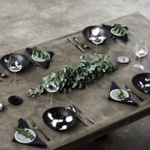 lifestyle | dinner setting | grey | concrete | home | living | Etsy | Harper and Harley
