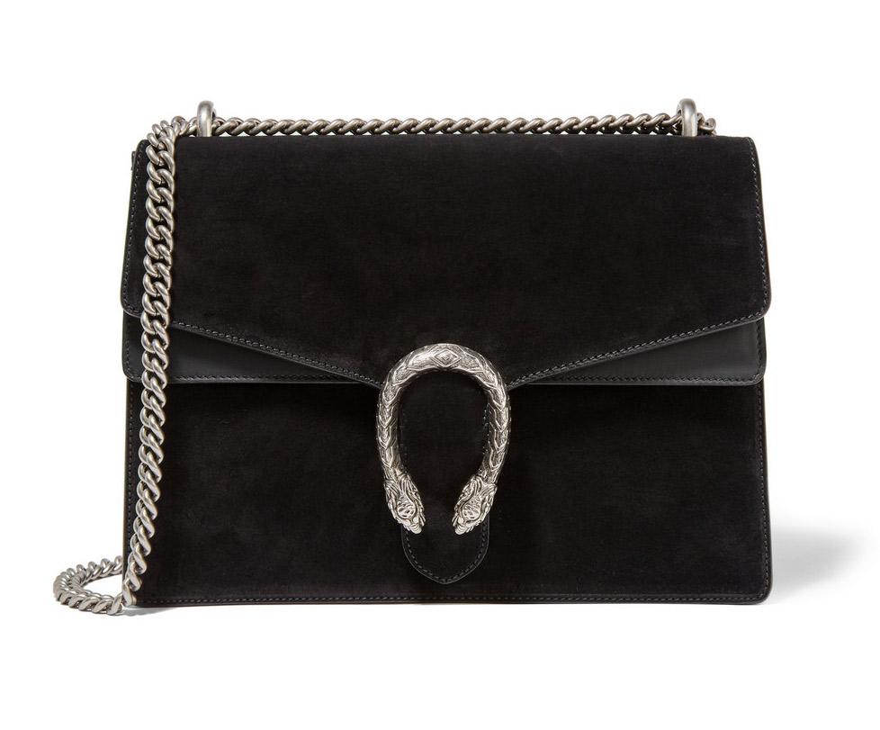 Gucci Dionysus in black   back in stock   classic bag   essential   HarperandHarley