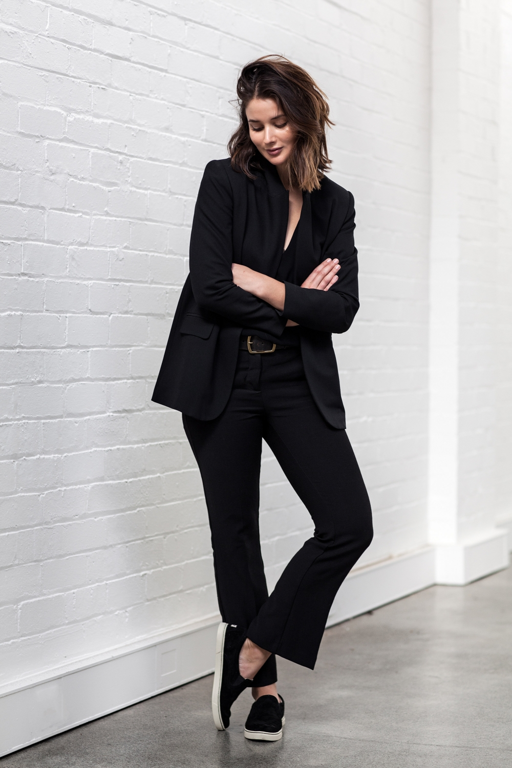 Black suiting | style | outfit | Harper and Harley