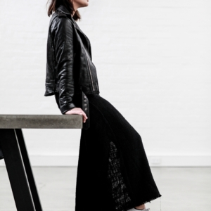 Black dress | Leather Jacket | Minimal | Layering | Matin |Style | Outfit | Harper and Harley