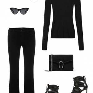 Outfit | all black | online shopping | HarperandHarley