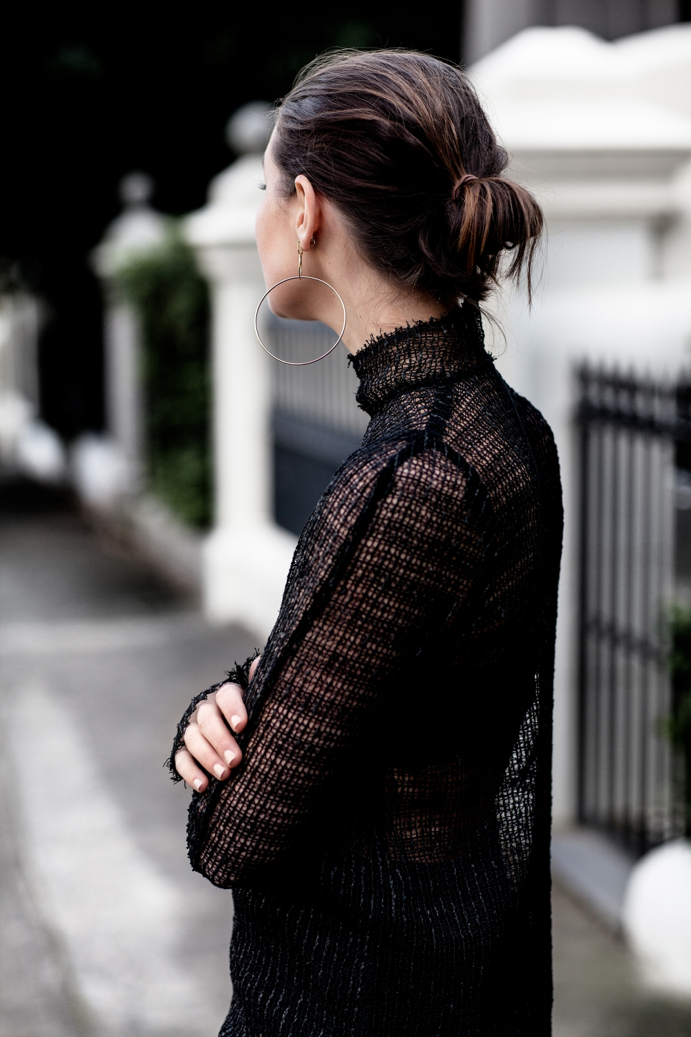 KITX Web Net Polo top from The UNDONE | all black outfit | style | Harper and Harley